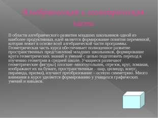 Алгебраическая и геометрическая части В области алгебраического развития млад