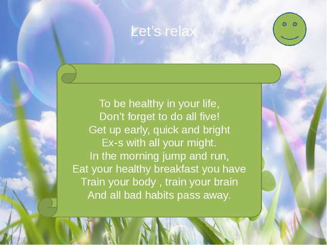 To be healthy in your life, Don't forget to do all five! Get up early, quick...