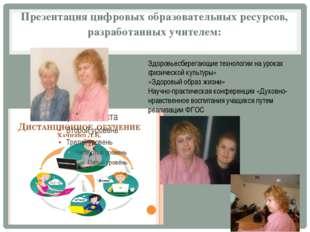 Презентация цифровых образовательных ресурсов, разработанных учителем: Здоров