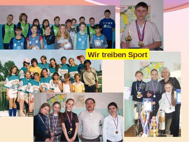 Wir treiben Sport