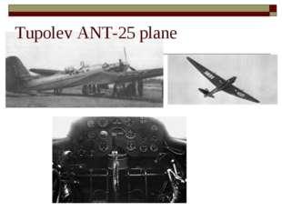 Tupolev ANT-25 plane