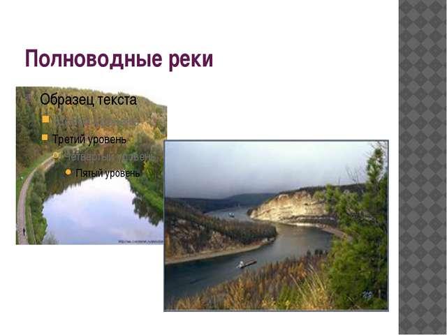 Полноводные реки
