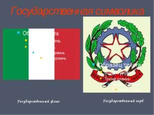 Государственная символика Государственный флаг Государственный герб