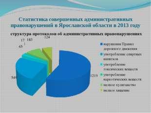 Статистика совершенных административных правонарушений в Ярославской области