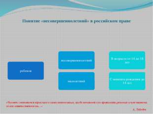 Понятие «несовершеннолетний» в российском праве «Человек становится взрослым