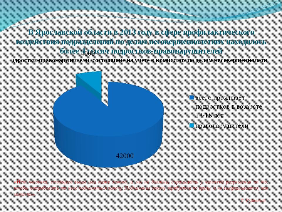 В Ярославской области в 2013 году в сфере профилактического воздействия подра...