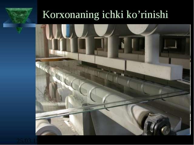 Korxonaning ichki ko'rinishi shisha