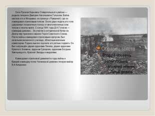 Село Русская Борковка Ставропольского района — родина генерала Дмитрия Никол