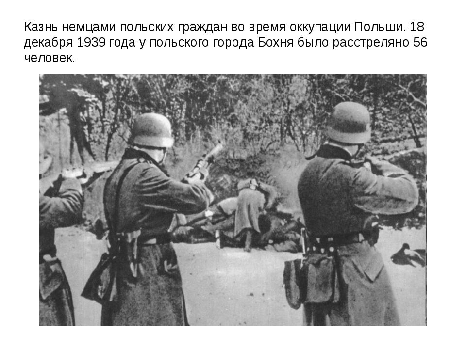 Казнь немцами польских граждан во время оккупации Польши. 18 декабря 1939 год...