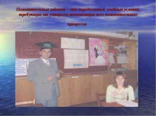 Познавательные задания – это определенные учебные условия, требующие от учащи