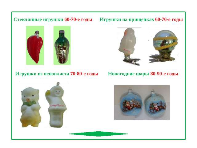 Игрушки из пенопласта 70-80-е годы Игрушки на прищепках 60-70-е годы Стеклянн...
