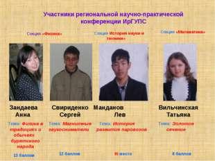 Участники региональной научно-практической конференции ИрГУПС Секция «Физика»
