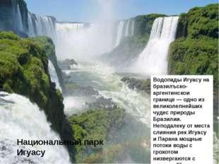 Национальный парк Игуасу Водопады Игуасу на бразилъско-аргентинскои границе —