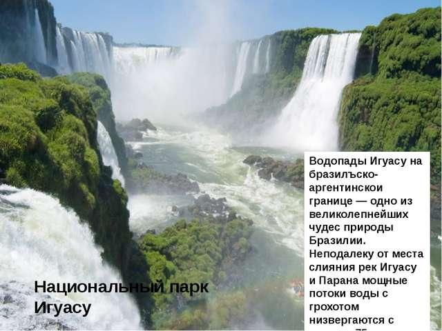 Национальный парк Игуасу Водопады Игуасу на бразилъско-аргентинскои границе —...