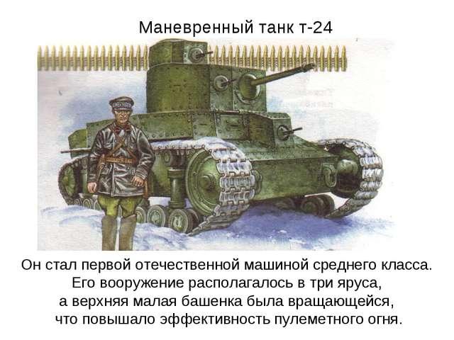 Маневренный танк т-24 Он стал первой отечественной машиной среднего класса. Е...