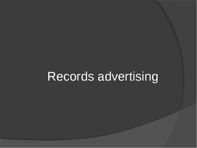 Records advertising