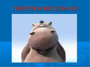 ПЕРЕУЛОК ВЕСЕЛИНСК