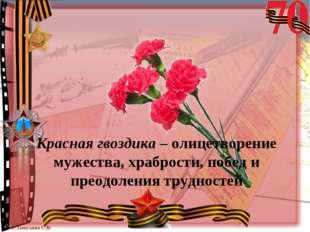 Красная гвоздика – олицетворение мужества, храбрости, побед и преодоления тру