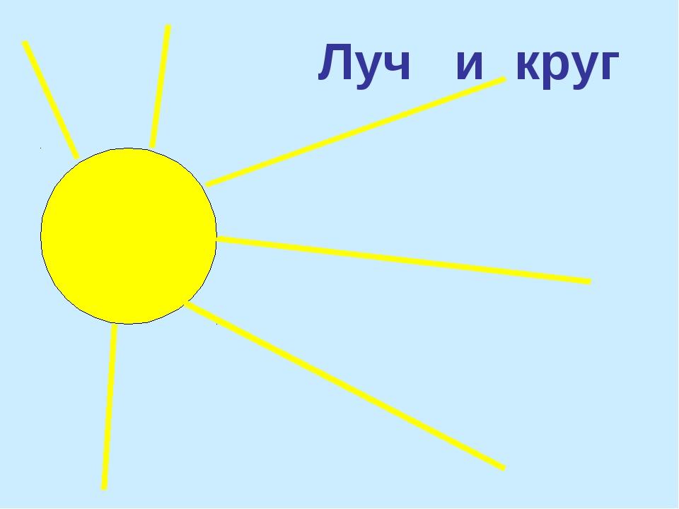 Луч и круг