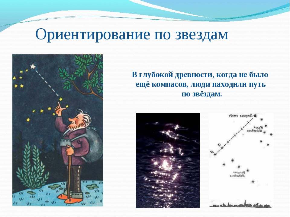 Ориентирование по звездам В глубокой древности, когда не было ещё компасов, л...