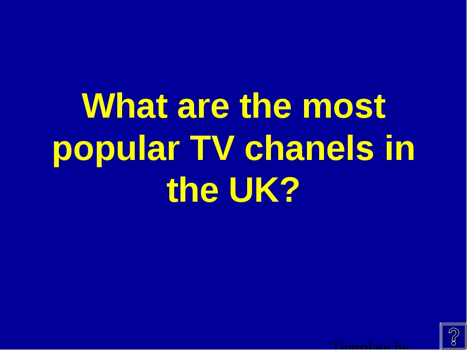 What are the most popular TV chanels in the UK?