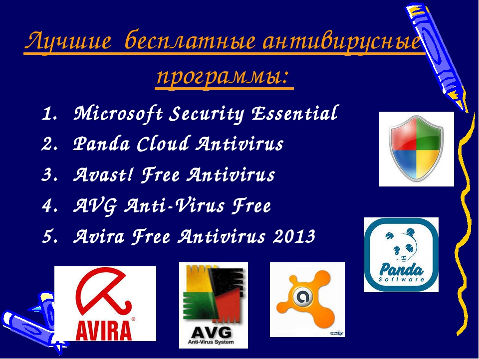 Лучшие бесплатные антивирусные программы: Microsoft Security Essential Panda...