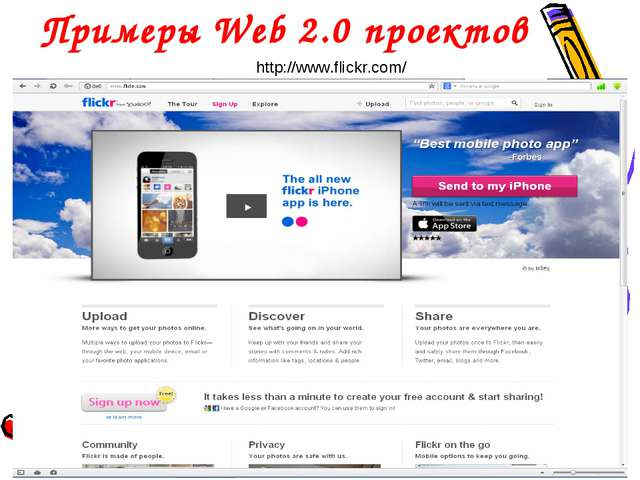 Примеры Web 2.0 проектов http://www.flickr.com/