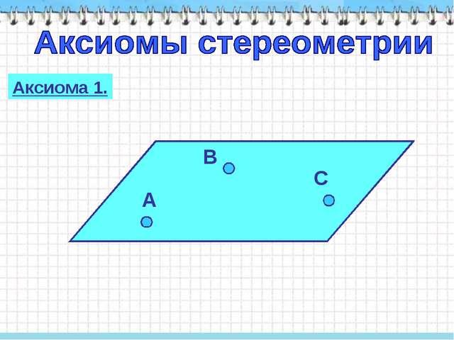 Аксиома 1.