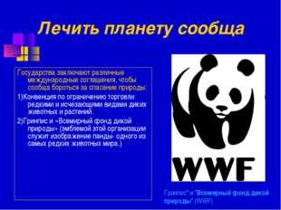 """Гринпис"""" и """"Всемирный фонд дикой природы"""" (WWF) Государства заключают различн"""