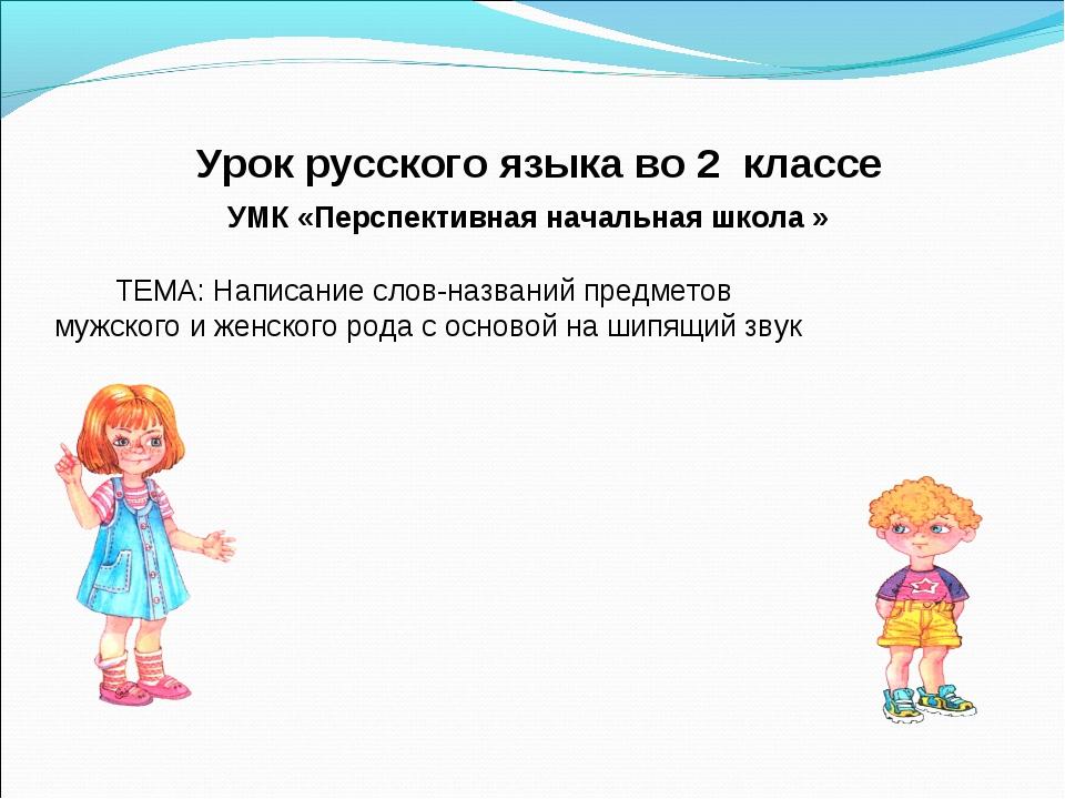 Урок русского языка во 2 классе УМК «Перспективная начальная школа » ТЕМА: Н...