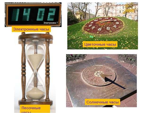 Цветочные часы Электронные часы Солнечные часы Песочные часы