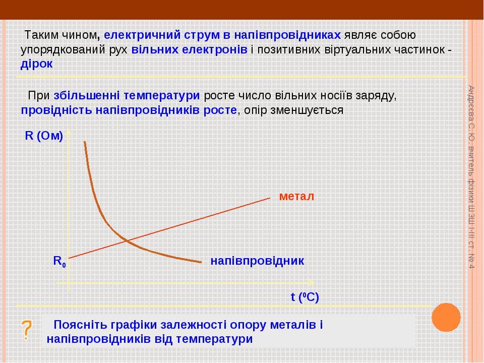 Таким чином, електричний струм в напівпровідниках являє собою упорядкований...