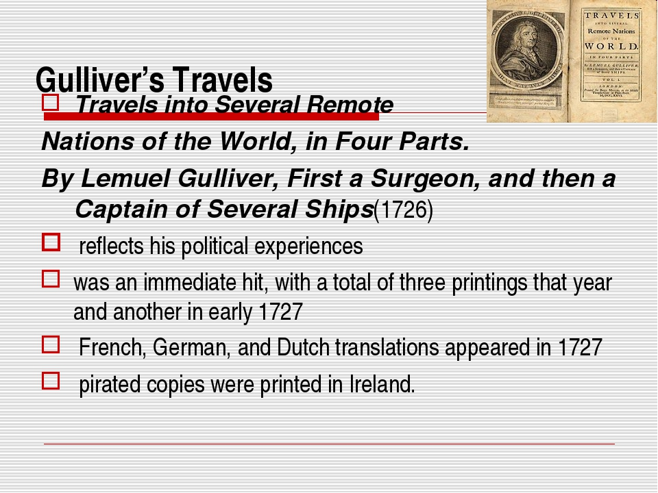 Gulliver's Travels Travels into Several Remote Nations of the World, in Four...