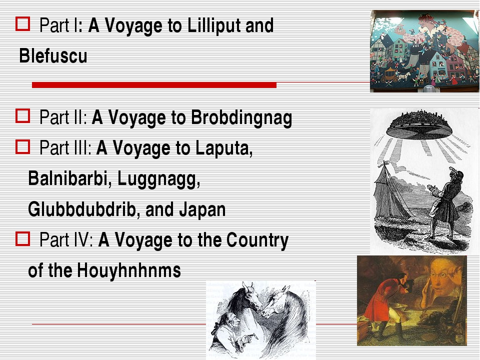 Part I: A Voyage to Lilliput and Blefuscu Part II: A Voyage to Brobdingnag Pa...