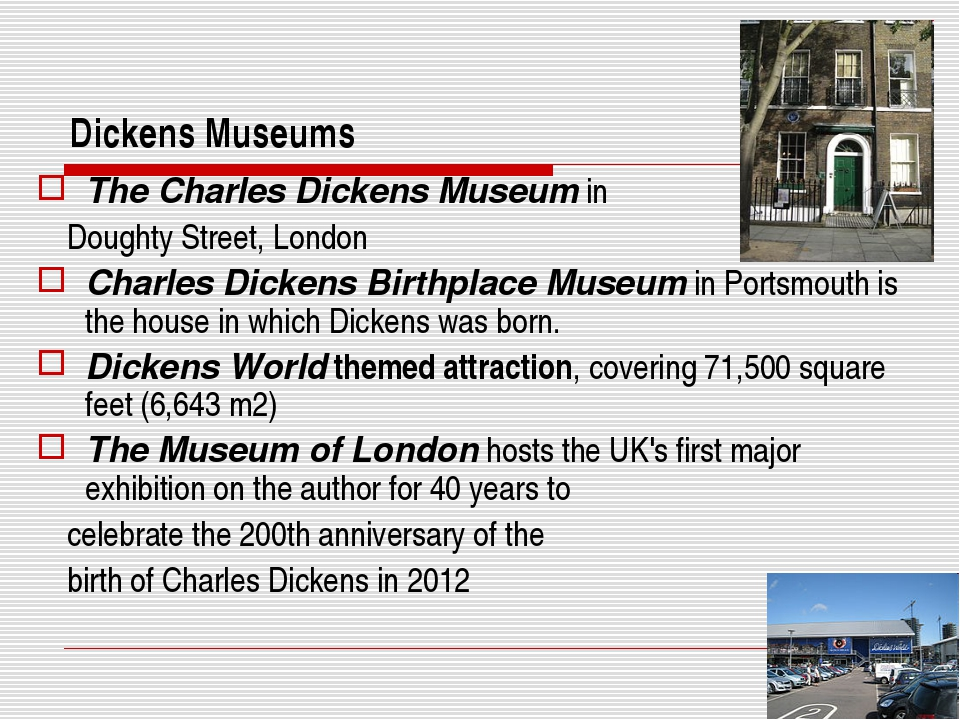 Dickens Museums The Charles Dickens Museum in Doughty Street, London Charles...