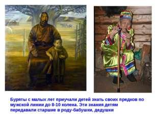 Буряты с малых лет приучали детей знать своих предков по мужской линии до 8-1
