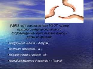 В 2013 году специалистами МБОУ «Центр психолого-медико-социального сопровожде