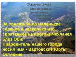 За Уралом было маленькое селение в несколько изб, спрятанное на протоке Чехл