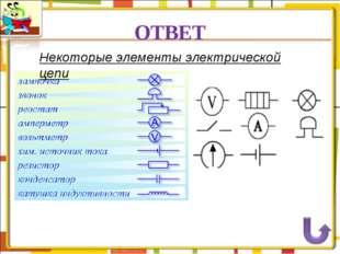 ОТВЕТ Некоторые элементы электрической цепи