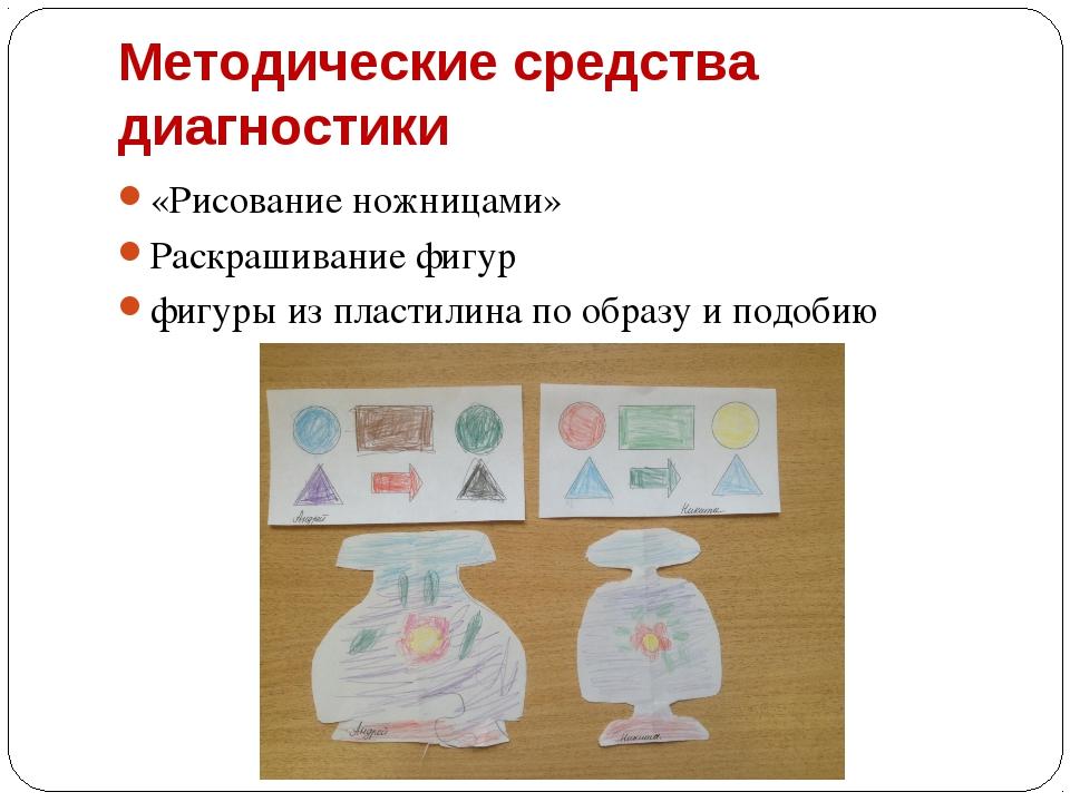 Методические средства диагностики «Рисование ножницами» Раскрашивание фигур ф...