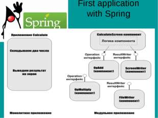First application with Spring
