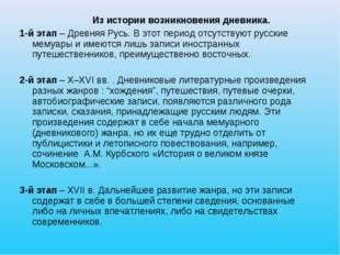 Из истории возникновения дневника. 1-й этап – Древняя Русь. В этот период от