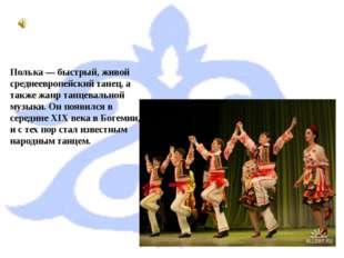 Полька — быстрый, живой среднеевропейский танец, а также жанр танцевальной му