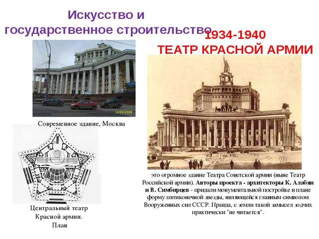 Искусство и государственное строительство 1934-1940 ТЕАТР КРАСНОЙ АРМИИ Центр...