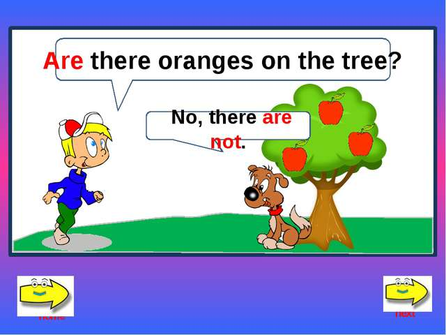 What apples are there on the tree? There are red apples. home exit