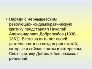 Наряду с Чернышевским революционно-демократическую критику представлял Никол