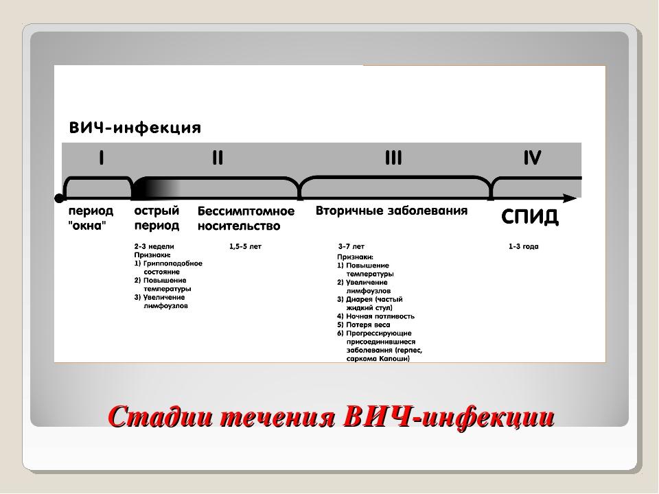 Стадии течения ВИЧ-инфекции