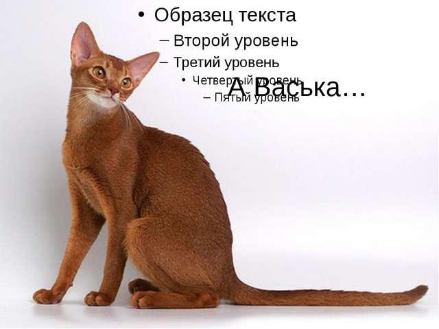 А Васька…