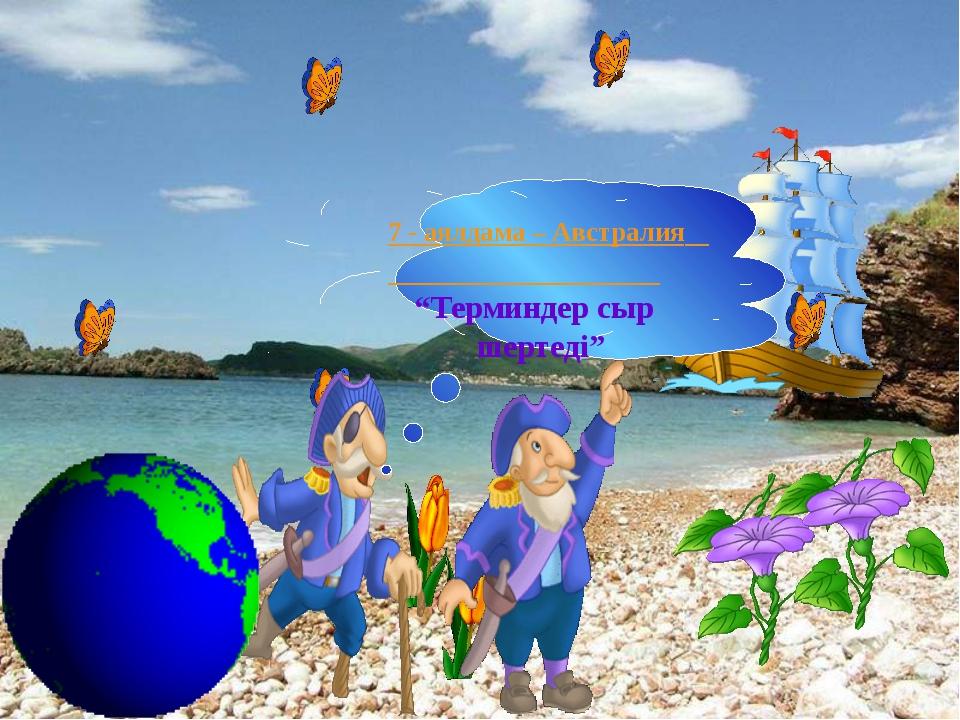 Мына ұғымдарды картадан көрсет: І-топ: Балқаш көлі; Сырдария өзені; Тұран ойп...