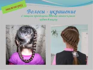 Волосы - украшение Наблюдение С такими причёсками девочки нашего класса ходят